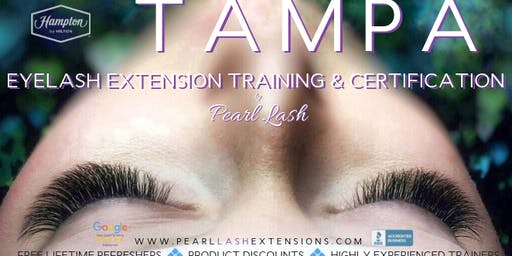 Volume Eyelash Extension Training by Pearl Lash Tampa, FL March 15, 2020