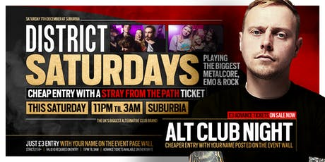 DISTRICT Southampton // Metalcore & Alt Club Night // This Saturday Night tickets