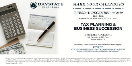 Tax Planning and Business Succession Workshop tickets