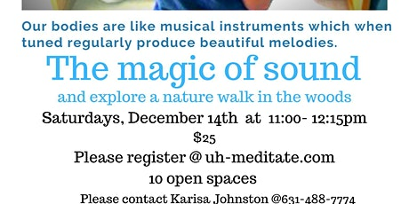The Magic of Sound & Nature tickets