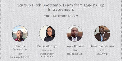 Startup Pitch Bootcamp: Learn from Lagos's Top Entrepreneurs