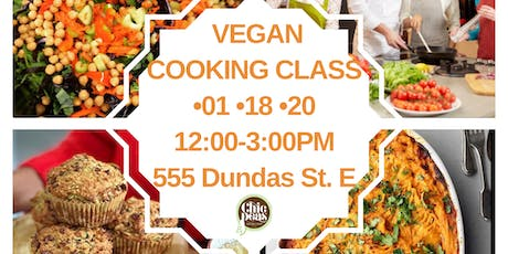 VEGAN COOKING CLASS tickets