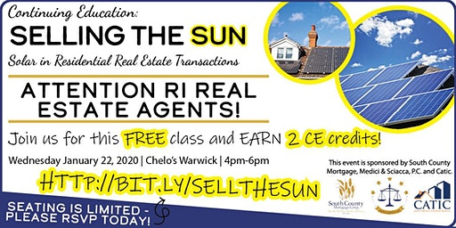 Selling the Sun:  Solar in Residential Real Estate Transactions