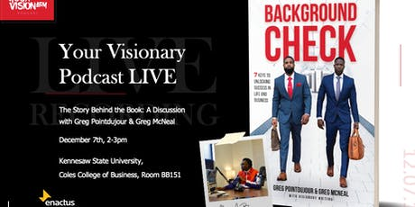 Your Visionary Podcast Live - The Story Behind the Book: Background Check tickets