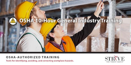 OSHA 10 - Hour General Industry Training  tickets