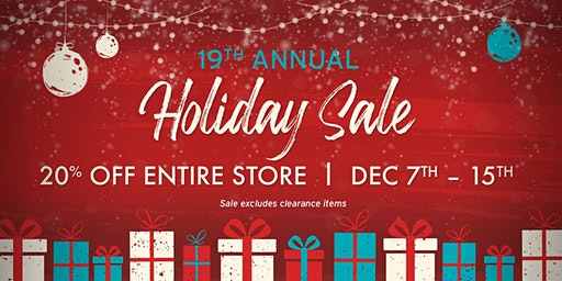 19th Annual Holiday Sale