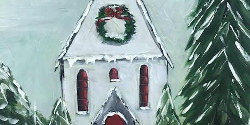 Snowy Little Church