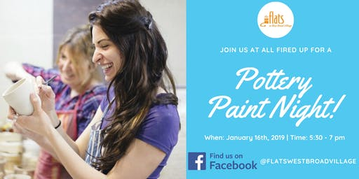Pottery Paint Night - The Flats & All Fired Up
