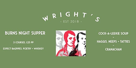 Burns Night Supper Club @ Wright's tickets