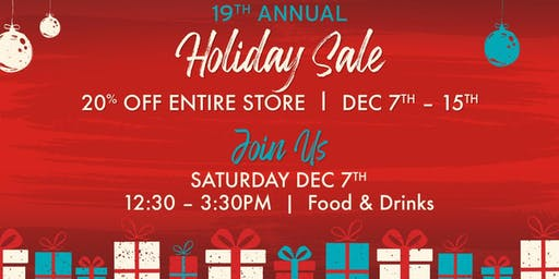19th Annual Holiday Sale Kick-Off Party