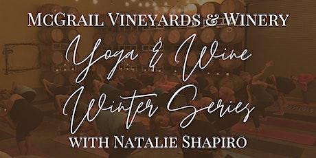 Barrel Room Yoga & Wine Winter Series with Natalie Shapiro at McGrail tickets