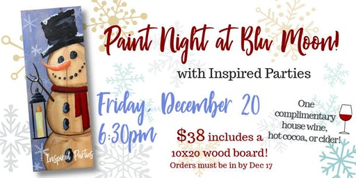 Paint Night at Blu Moon!
