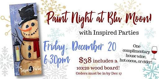 Paint Night at Blu Moon!