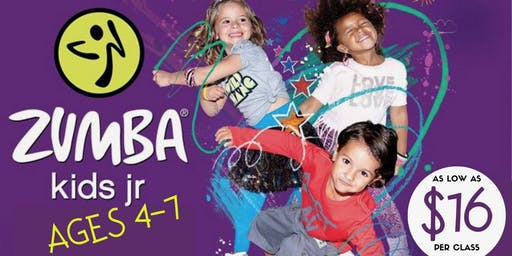 Zumba Kids Jr 6wk Program 1/4-25/19 & 2/8&15/2019