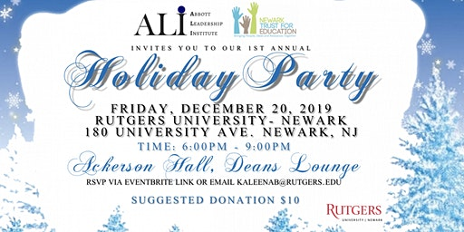 Abbott Leadership Institute and Newark Trust for Education Holiday Party