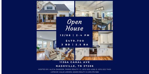 Mega Open House at 1136A Cahal Ave, Nashville, TN 37206