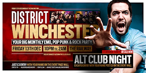 DISTRICT Winchester // End of Term Party // Friday 13th December