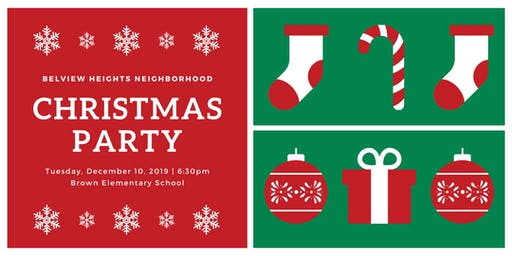 Belview Heights Neighborhood Annual Christmas Party