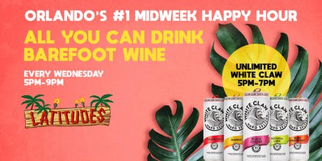 Unlimited White Claw + Barefoot Wine tickets
