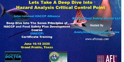 Grand Prairie, Texas: International HACCP Alliance Certificate Training