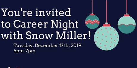 Career Night with Snow Miller tickets