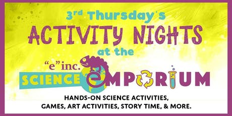 """3rd Thursday at the """"e"""" inc. Science Emporium: Crazy Catapults tickets"""