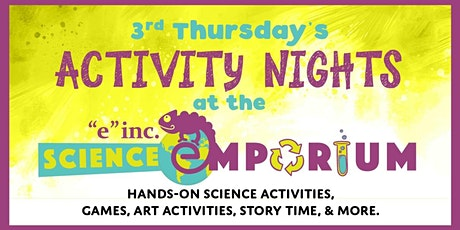 "3rd Thursday at the ""e"" inc. Science Emporium: Crazy Catapults tickets"
