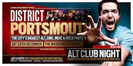 DISTRICT Portsmouth // Emo Rock & Indie Club Night // Sat 28th December tickets