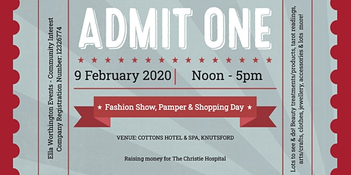 LADIES CHARITY FASHION SHOW, PAMPER & SHOPPING DAY