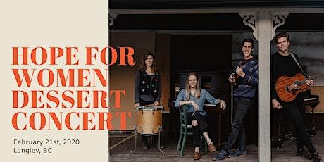 Hope for Women - Dessert Concert 2020 - Langley tickets
