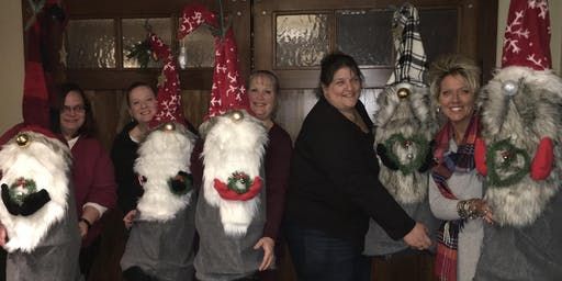 Gnome Craft Class with Paula Cardi at Chelos 4 foot  Gnome