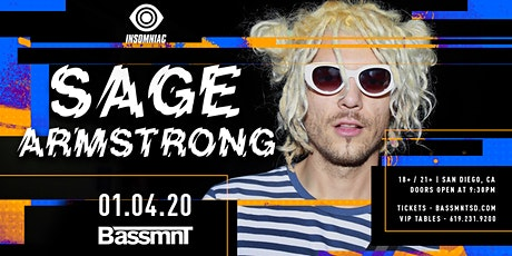 Sage Armstrong at Bassmnt Saturday 1/4 tickets