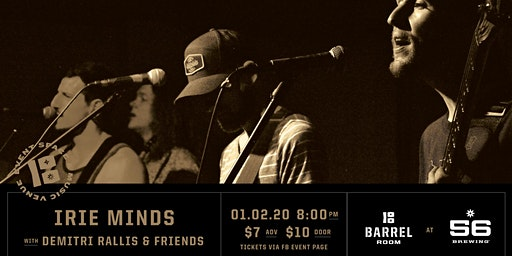 Barrel Room Sessions   Irie Minds with Demitri Rallis  & Friends