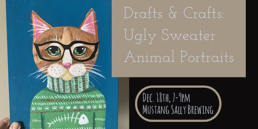 Drafts and Crafts: Ugly Sweater Animal Portraits