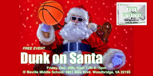 DUNK ON SANTA- FREE - Play Basketball with Santa Family Event!