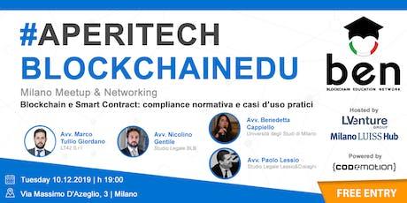 MILANO - Meetup #AperiTech di Blockchain Education Network Italia biglietti