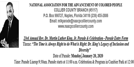 Martin Luther King Parade tickets