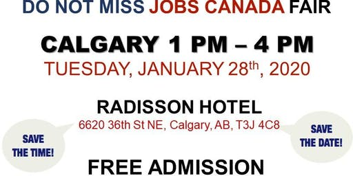 Calgary Job fair - January 28th, 2020