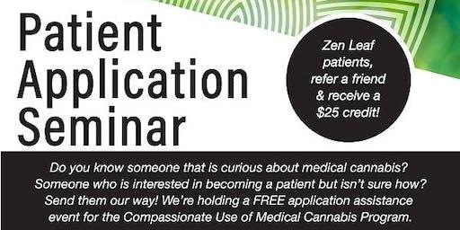 Medical Cannabis Patient Application Seminar