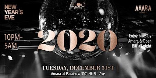 NYE 2020 at Amara at Paraiso by CLOC Events