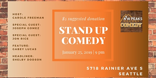 Stand Up Comedy Show: January 25th