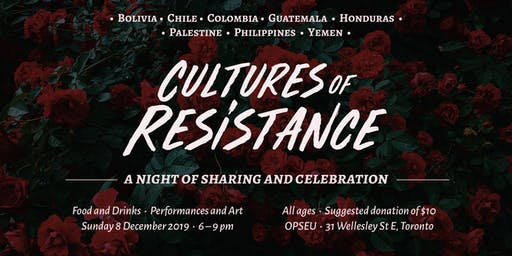 Cultures of Resistance – A Night of Sharing and Celebration