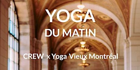 Yoga matinal au Crew Café avec Yoga Vieux Montréal billets