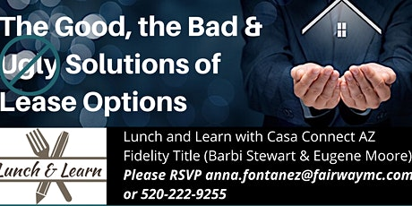 Learn the Good, the Bad and Solutions of Lease Options. tickets