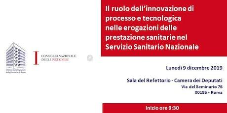Il ruolo dell'innovazione nel Servizio Sanitario Nazionale biglietti