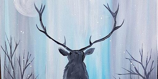 An Evening w/ Paintergirl~ Frozen Buck~ Painting &