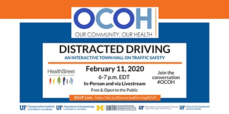 OUR COMMUNITY, OUR HEALTH TOWN HALL: DISTRACTED DRIVING tickets