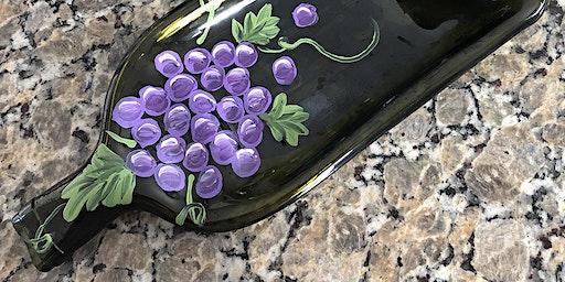 Slumped Wine Bottle Tray Paint Sip Wine Art Maker Class