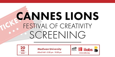 Cannes Lions Edmonton Screening 2020 tickets
