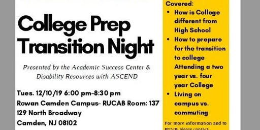 Rowan University College Prep Transition Night